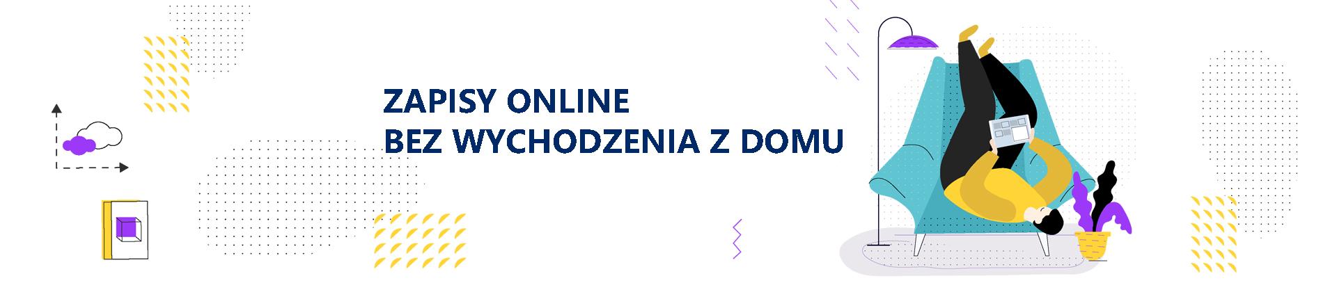 banner zapisy online bez wychodzenia z domu